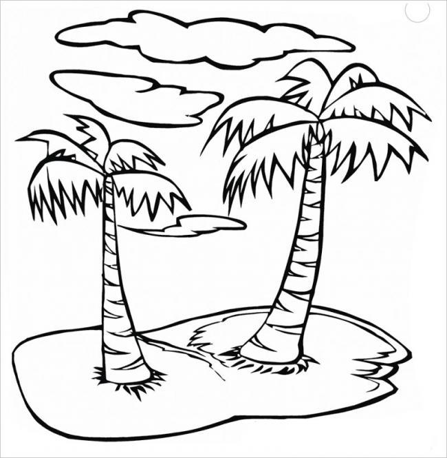 tranh-to-mau-cay-xanh