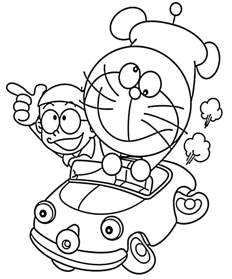 Tranh Tô Màu Doraemon Món Quà Ngày Hè ý Nghĩa Cho Bé Phú